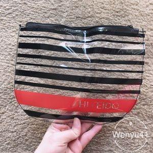 Shiseido transparent makeup bag
